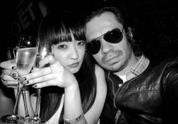Olivier Zahm and a Tokyo girl at The Baron, Tokyo. Photo Olivier…