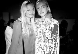 Virginie and Claire Courtin-Clarins at the Rodarte show, New York. Photo Olivier Zahm