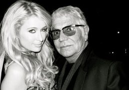 Paris Hilton and Roberto Cavalli at Roberto's yacht at his party in Cannes….
