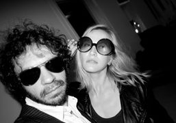 The model Oona Chanel wearing her mother's vintage sunglasses and me shooting…