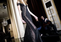 One look from Versace Haute Couture S/S15 show at Salons De La...