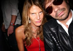 Anna Dello Russo and Olivier Zahm after the Gucci S/S 2013 show,…