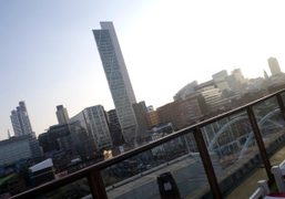 A view of the city from the rooftop ofShoreditch House, London. Photo…