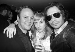 Nicholas Kirkwood, Paula Goldstein and Olivier Zahm at the opening of Apartment…