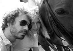 Dree Hemingway and me with a polo player at the lunch of…