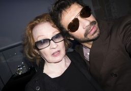 Actress Ingrid Caven and Olivier Zahm at the Elie Top Joaillerie de…