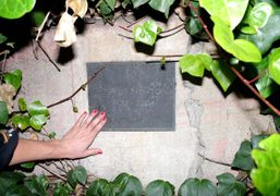 The plaque commemorating Helmut Newton outside of the Chateau Marmont, Los Angeles….
