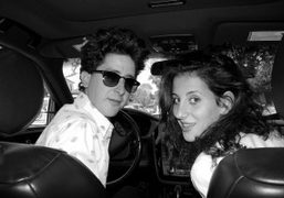 With Dustin Dollin and Emilie Kareh on our way to Johnny Hallyday's…
