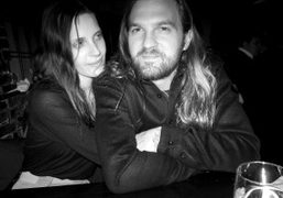 Dinner with the newly engaged couple, Vanessa Traina and Max Snow, at…