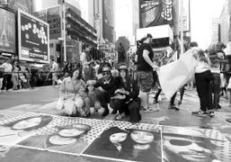 JR's Inside Out Project in Times Square (Part 2), New York