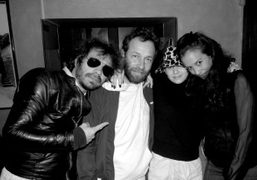 Olivier Zahm, Mark Gonzales, Annabel Mehran, and a friend at Bar Pitti,…