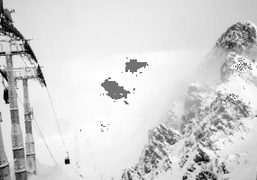 First day of ski at the top of the Roc Merlet, Courchevel,…