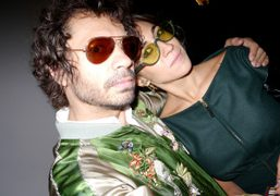 Olivier Zahm and Delfina Delettrez after the Fendi S/S 2013 show, Milan. Photo…