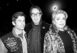 André Saraiva, Gilles Dufour, and Catherine Deneuve after the Saint Laurent F/W 2014…