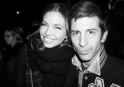 Dasha Zhukova and André Saraiva after the Saint Laurent F/W 2014 show at the Grand Palais,…