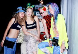 Full Moon party at Governor's Island Beach Club, New York