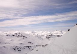View of landscape from Mont du Vallon (2952 m) one of the…