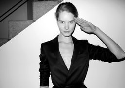 A look from the Reed Krakoff presentation held at the Karsten Greve…