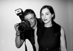 Purple contributor and photographer Stephane Feugere with the French actress Amira Casar…