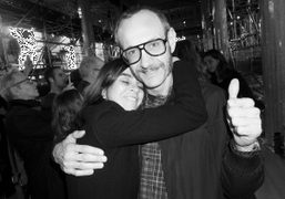 Carine Roitfeld and Terry Richardson at the Miu Miu F/W 2014 show…