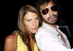 Anna Dello Russo and Olivier Zahm at the Dior Couture F/W 2011-2012…