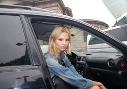 The model Magdalena Frackowiakon her way to the airport after her last…