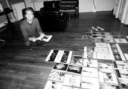 Max Snow working on the layout of his Purple book for the…