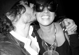 Olivier Zahm and Chan Marshall(aka Cat Power)on the street of New York….