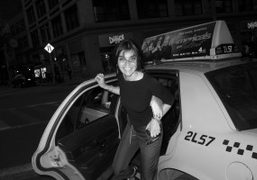 Carine Roitfeld getting out of a taxi, New York. Photo Olivier Zahm