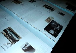 The printing of the baby blue pages of the next Purple Fashion…