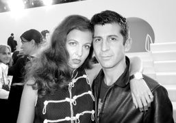Chiara Clemente and André Saraiva at the Chanel S/S 2013 show at…