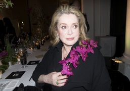Catherine Deneuve at a dinner in honor of Kevin Systrom, the founder…