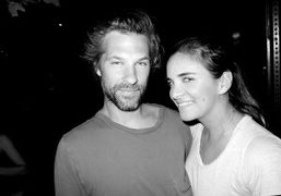 Aaron Young and Laure Heriard-Dubreuil after dinner at Sant Ambroeus, New York….