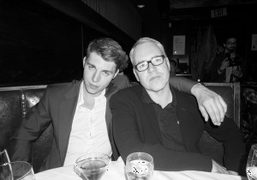 Nolan Gerard Funk and Bret Easton Ellis at Musso and Franks Grill,…