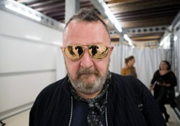 Michel Gaubert backstage after the Louis Vuitton Cruise 2015 show at thePalais…