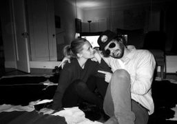 Victoria Traina and Olivier Zahm (having been rescued by Taya Snow and…