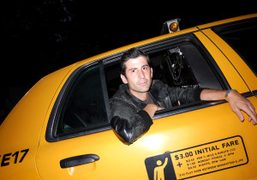 Andre Saraiva leaving Lincoln Center after the Charlotte Ronson show, New York….