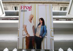 """The new issue of the """"Frog"""" magazine with the cover shot by..."""