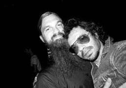 Max Snow and Olivier Zahm before the Proenza Schouler S/S 2012 show,…