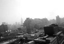 A last foggy morning at the Standard Hotel before I head back…