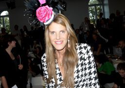 Anna Dello Russo before the Jil Sander show, Milan. Photo Olivier Zahm