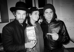 Aaron Young, Laure Heriard-Dubreuil and André Saraiva coming to say hello during…