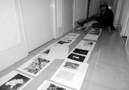 Finishing the layout of the next Purple issue #19 at the Purple…