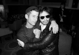 André Saraiva and Olivier Zahm at the Hotel Principe Di Savoia, Milan….
