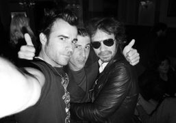 Justin Theroux, André Saraiva and Olivier Zahm at the Hotel Principe Di…