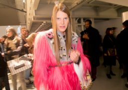 My friend, the glamouros Anna Dello Russo at the Fendi men's F/W…