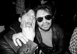 Max Snow and Olivier Zahm at Max Snow's after party at Le…