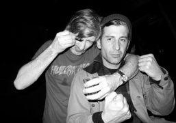The French musician Kavinsky and André Saraiva at Max Snow's after party…