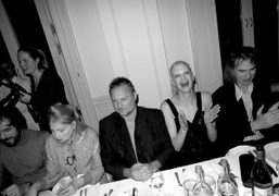 """A dinner in honor of Juergen Teller's """"Woo"""" exhibition opening, London"""