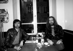 Xavier de Rosnay and Gaspard Augé from Justice at the Hotel Amour, Paris. Photo…